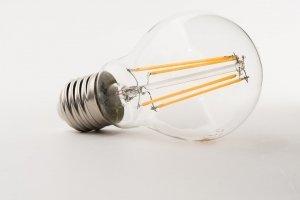 foto van een dimbare led lamp