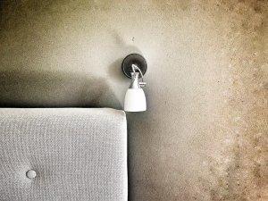 foto van een wandlamp