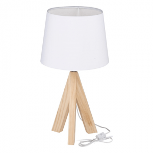 grundig retro houten lamp